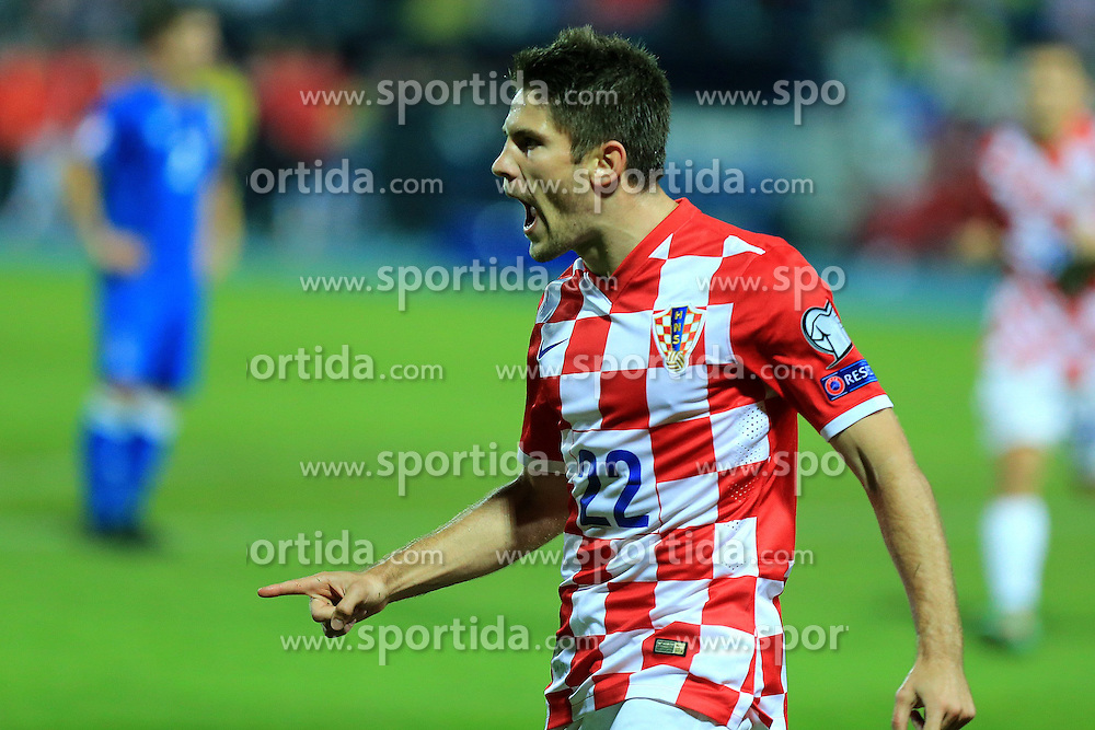 13.10.2014, Stadion Gradski vrt, Osijek, CRO, UEFA Euro Qualifikation, Kroatien vs Aserbaidschan, Gruppe H, im Bild Andrej Kramaric // during the UEFA EURO 2016 Qualifier group H match between Croatia and Azerbaijan at the Stadion Gradski vrt in Osijek, Croatia on 2014/10/13. EXPA Pictures &copy; 2014, PhotoCredit: EXPA/ Pixsell/ Davor Javorovic<br /> <br /> *****ATTENTION - for AUT, SLO, SUI, SWE, ITA, FRA only*****