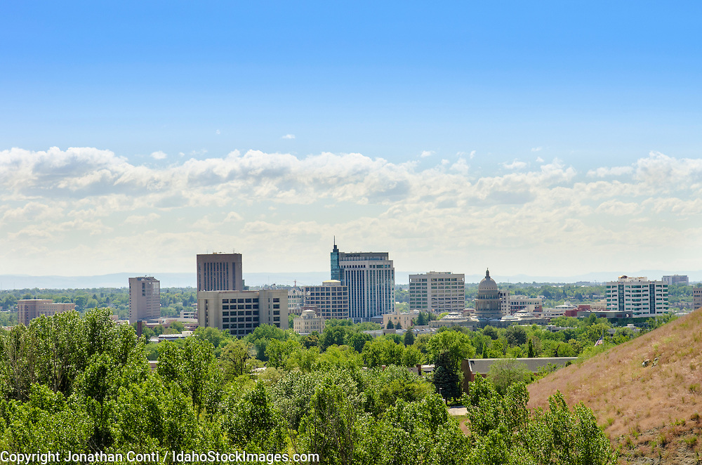 A view of the city from the Boise foothills in the spring