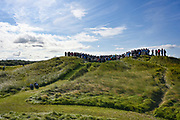 General view of the 12th tee during the Sunday Foursomes in the Walker Cup at the Royal Liverpool Golf Club, Sunday, Sept 8, 2019, in Hoylake, United Kingdom. (Steve Flynn/Image of Sport)