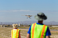 Spot landing contest on April 1, 2017 at Ak-Chin Regional Airport near Maricopa, AZ.  Some of the 99s camped overnight and were joined by Andy Estes of Desert Rat Aviation and Tim Costello, airport manager.<br /> <br /> Observers anticipate a spot landing contestant.