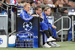 26.04.2011, Veltins Arena, Gelsenkirchen, GER, UEFA CL, Halbfinale Hinspiel, Schalke 04 (GER) vsManchester United (ENG), im Bild:  Ralf Rangnick (Trainer Schalke 04) (M) entaeuscht / entäuscht  // during the UEFA CL, Semi Final first leg, Schalke 04 (GER) vs Manchester United (ENG), at the Veltins Arena, Gelsenkirchen, 26/04/2011 EXPA Pictures © 2011, PhotoCredit: EXPA/ nph/  Mueller *** Local Caption ***       ****** out of GER / SWE / CRO  / BEL ******