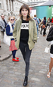18.SEPTEMBER.2012. LONDON<br /> <br /> ALEXA CHUNG AT SUMMERSET HOUSE FOR LFW.<br /> <br /> BYLINE: EDBIMAGEARCHIVE.CO.UK<br /> <br /> *THIS IMAGE IS STRICTLY FOR UK NEWSPAPERS AND MAGAZINES ONLY*<br /> *FOR WORLD WIDE SALES AND WEB USE PLEASE CONTACT EDBIMAGEARCHIVE - 0208 954 5968*