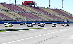 March 16, 2019 - Fontana, California, U.S. - FONTANA, CA - MARCH 16:  Race cars on the track getting ready for green flag at the NASCAR Xfinity Series  race on March 16, 2019 at Auto Club Speedway in Fontana, CA.  (Photo by Lyle Setter/Icon Sportswire) (Credit Image: © Lyle Setter/Icon SMI via ZUMA Press)
