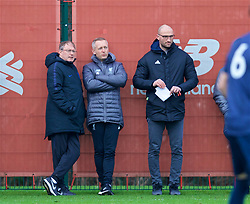 KIRKBY, ENGLAND - Saturday, January 26, 2019: Liverpool's Under-23 manager Niel Critchley during the FA Premier League match between Liverpool FC and Manchester United FC at The Academy. (Pic by David Rawcliffe/Propaganda)