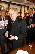 Boris Johnson, Book party for 'The Dream of Rome' by Boris Johnson. Daunts bookshop. Marylebone High St. London. 1 February 2006. -
