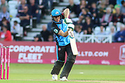 Ben Cox of Worcestershire Rapids drives the ball during the Vitality T20 Blast North Group match between Nottinghamshire County Cricket Club and Worcestershire County Cricket Club at Trent Bridge, West Bridgford, United Kingdon on 18 July 2019.