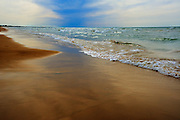 Waves on shore of LAke Huron<br /> Pinery Provincial Park<br /> Ontario<br /> Canada