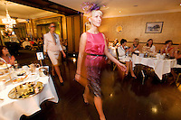 "Catwalk models in Brown Thomas at the Hotel Meyrick ""Bubbles & Delights"" Fashion Soiree in aid of Childline ISPCC, where guests were treated to a race themed fashion showcase by Galway's leading boutiques & outlets"". Photo:Andrew Downes"