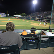 Fan Jim Langlois scoring during the New Britain Rock Cats Vs Binghamton Mets Minor League Baseball game at New Britain Stadium, New Britain, Connecticut, USA. 2nd July 2014. Photo Tim Clayton