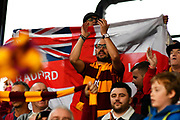 Bradford fans celebrates the 1-0 win at full time during the EFL Sky Bet League 1 match between Portsmouth and Bradford City at Fratton Park, Portsmouth, England on 28 October 2017. Photo by Graham Hunt.