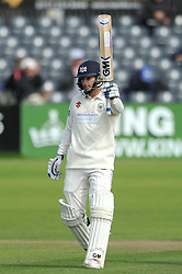 Chris Dent has passed 1000 first class runs for 2015 and his previous best Championship score (153 v Kent 2013) - Mandatory byline: Dougie Allward/JMP - 07966386802 - 24/09/2015 - Cricket - County Ground -Bristol,England - Gloucestershire CCC v Glamorgan CCC - LV=County Championship - Division Two - Day Three
