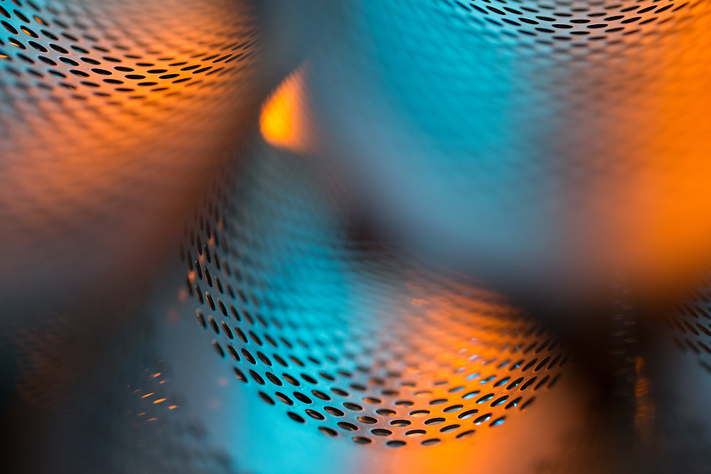 These abstract photographs are shots of different industrial materials - assignment for company Akrapovič.