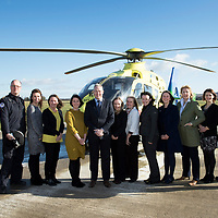 SCAA…Scotland's Charity Air Ambulance… Pictured from left, John Pritchard, Russell Myles, Georgine Hood, Karen Purvis, Katie Wylie, David Craig, Katrine MacPhail, Joy Nelson, Carol Anne McMahon, Helen MacGregor, Maureen Young, Rebecca Foster and Graeme Hay<br />