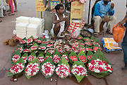 India, Uttarakhand, Haridwar Wishing bowls for sale The bowls are set afloat on the Ganges River by worshippers