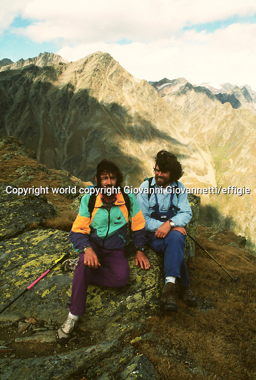Hans Kammerlander, Reinhold Messner<br />world copyright Giovanni Giovannetti/effigie