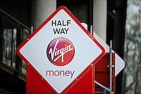 Half way marker<br /> The Virgin Money London Marathon 2014<br /> 13 April 2014<br /> Photo: Javier Garcia/Virgin Money London Marathon<br /> media@london-marathon.co.uk