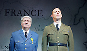 The Patriotic Traitor <br /> at Park Theatre, London, Great Britain <br /> press photocall <br /> 18th February 2016 <br /> <br /> Tom Conti as Philippe Petain<br /> <br /> Laurence Fox as Charles de Gaulle <br /> <br /> <br /> <br /> <br /> Photograph by Elliott Franks <br /> Image licensed to Elliott Franks Photography Services