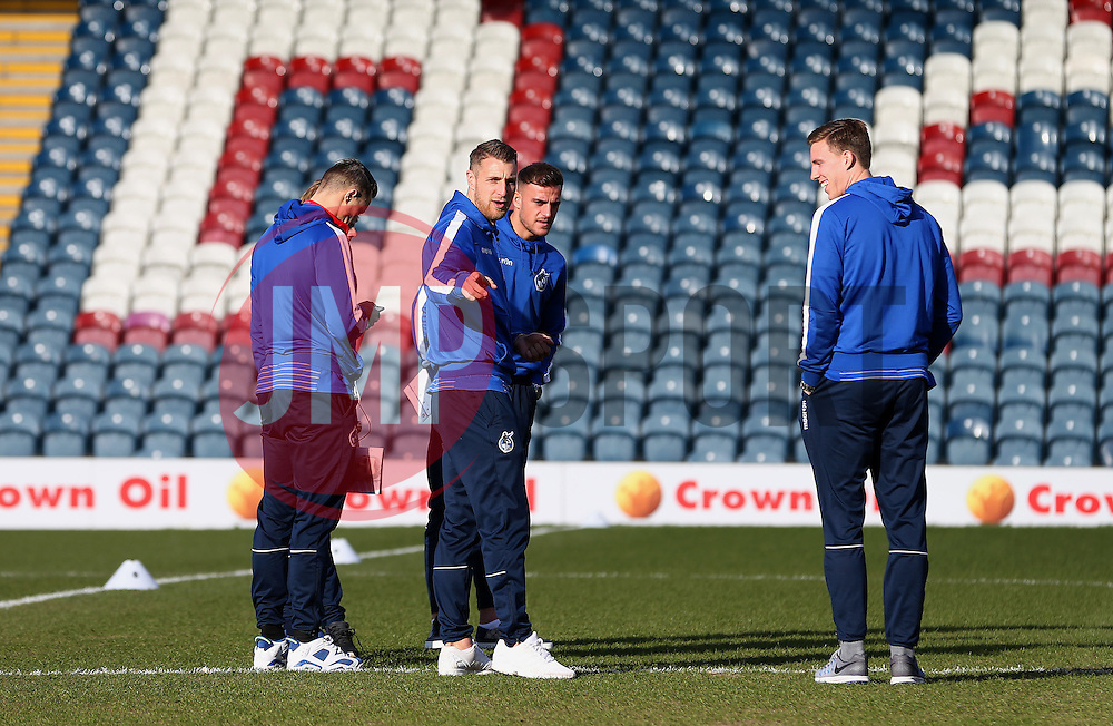 Bristol Rovers players check the pitch before kick off - Mandatory by-line: Matt McNulty/JMP - 04/02/2017 - FOOTBALL - Crown Oil Arena - Rochdale, England - Rochdale v Bristol Rovers - Sky Bet League One