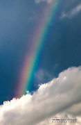 Rainbow Through the Clouds at Fort Myers Beach, Florida