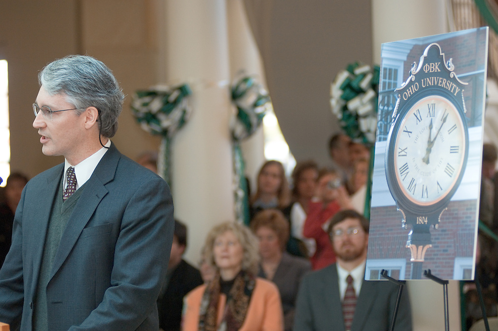 Baker Center Dedication..Dedication Ceremony.Dedication of Phi Beta Kappa Clock