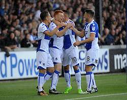 Goal celebrations from Tom Nichols,Rory Gaffney,Billy Bodin and Ollie Clarke - Mandatory by-line: Neil Brookman/JMP - 09/09/2017 - FOOTBALL - Memorial Stadium - Bristol, England - Bristol Rovers v Walsall - Sky Bet League One