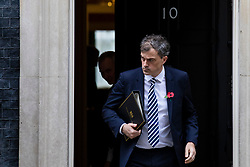 © Licensed to London News Pictures. 06/11/2018. London, UK. Conservative Chief Whip Julian Smith leaves 10 Downing Street after the Cabinet meeting. Photo credit: Rob Pinney/LNP