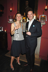Artist NATASHA LAW and PATRICK SHELLEY of Ruinart at a dinner hosted by Ruinart in honour of artist Natasha Law held at Soho House, 21 Old Compton Street, London on 16th January 2008.<br /> <br />  (EMBARGOED FOR PUBLICATION IN UK MAGAZINES UNTIL 1 MONTH AFTER CREATE DATE AND TIME) www.donfeatures.com  +44 (0) 7092 235465
