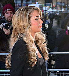 Tulisa Contostavlos arriving at Westminster Magistrates Court in London,  Thursday, 19th December 2013. Picture by Nils Jorgensen / i-Images