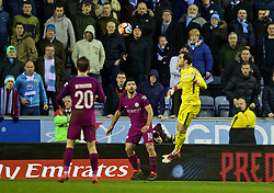 WIGAN, ENGLAND - Monday, February 19, 2018: Manchester City's goalkeeper Claudio Bravo during the FA Cup 5th Round match between Wigan Athletic FC and Manchester City FC at the DW Stadium. (Pic by David Rawcliffe/Propaganda)
