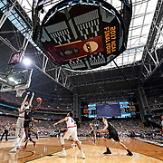 South Carolina drives to the basket against Gonzaga during The Final Four at University of Phoenix Stadium in Phoenix. ©Travis Bell Photography