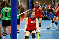 20150128 NED: Beker Oskam Taurus - Sudosa Desto, Houten<br />Catja Weijzen (8) of Oskam Taurus, terug na een avontuur bij Sliedrecht Sport<br />©2014-FotoHoogendoorn.nl / Pim Waslander