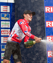 01.07.2012, Innsbruck, AUT, 64. Oesterreich Rundfahrt, 1. Etappe, EZF Innsbruck, im Bild Fuehrender der Einzel Gesamtklassement mit dem  rote Trikot Alessandro Bazzana (ITA)  during the 64rd Tour of Austria, Stage 1, Individual time trial in Innsbruck, Austria on 2012/07/01