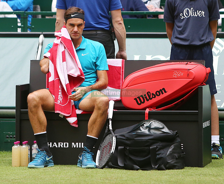June 19, 2018 - Halle, Westphalia, Allemagne - Germany, Halle, Westphalia, Tennis, Gerry Weber Open 2018...Swiss player Roger Federer  (Credit Image: © Panoramic via ZUMA Press)
