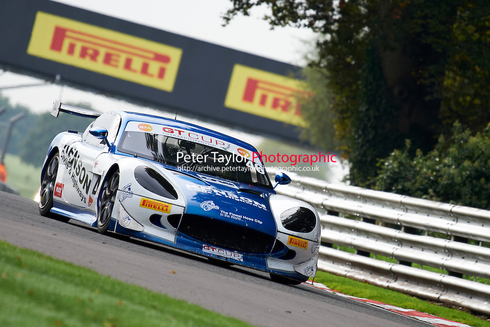 #46 Rob GAFFNEY Ginetta G50 during GT Cup - Qualifying as part of the MSVR Oulton Park 10th October 2015 at Oulton Park, Little Budworth, Cheshire, United Kingdom. October 10 2015. World Copyright Taylor/PSP. Copy of publication required for printed pictures.  Every used picture is fee-liable. http://archive.petertaylor-photographic.co.uk