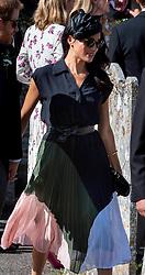 August 4, 2018 - Frensham - 8/4/18.Prince Harry, Duke of Sussex and Meghan, Duchess of Sussex attend the wedding of Charlie Van Straubenzee and Daisy Jenks in Frensham. (Credit Image: © Starmax/Newscom via ZUMA Press)
