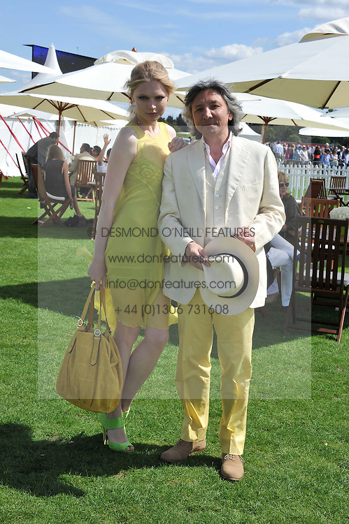 LEON MAX and KATIA ELIZAROVA at the 27th annual Cartier International Polo Day featuring the 100th Coronation Cup between England and Brazil held at Guards Polo Club, Windsor Great Park, Berkshire on 24th July 2011.