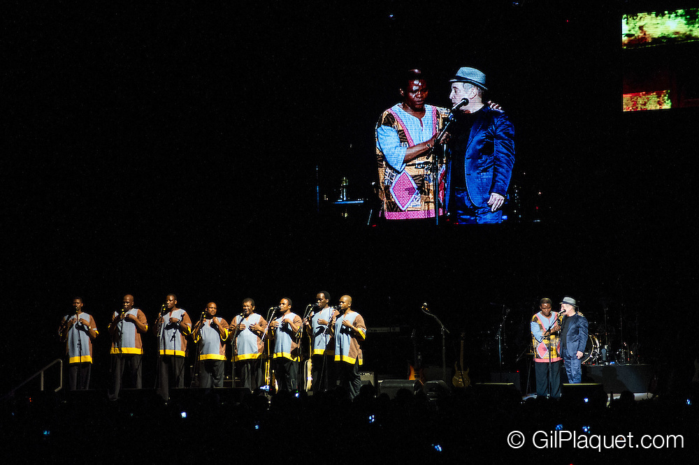 Vorst. Paul Simon reunie met Ladysmith Black Mambazo