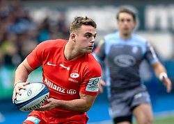 Ben Earl of Saracens<br /> <br /> Photographer Simon King/Replay Images<br /> <br /> European Rugby Champions Cup Round 4 - Cardiff Blues v Saracens - Saturday 15th December 2018 - Cardiff Arms Park - Cardiff<br /> <br /> World Copyright © Replay Images . All rights reserved. info@replayimages.co.uk - http://replayimages.co.uk
