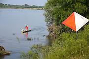 Kayaking along Ticino river, Pavia, June...Kayakisti in allenamento sul Ticino vicino a Pavia, giugno.
