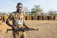Field rangers receiving weapons training, Zakouma National Park, Chad