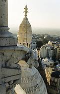 France. Paris. elevated view on the Sacre Coeur. le Sacre coeur. vu du clocher, campanile