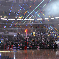19 December 2007:  The Chicago Bulls take the court as the Washington Wizards are introduced during a laser show at the Verizon Center in Washington, D.C.  The Bulls defeated the Wizards 95-84.