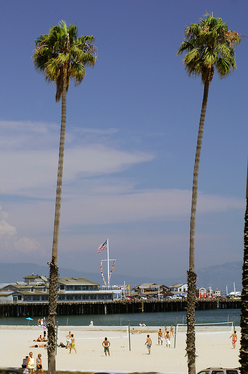 Beach Volleyball, Stearns Wharf, Santa Barbara, California, United States of America