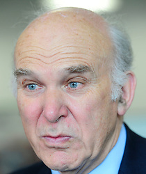 """Image ©Licensed to i-Images Picture Agency. 11/07/2014. London, United Kingdom. Business Secretary Vince Cable during the """"Lets Get Cooking """" project at Twickenham Academy. Picture by i-Images"""