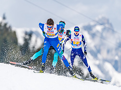 02.03.2019, Seefeld, AUT, FIS Weltmeisterschaften Ski Nordisch, Seefeld 2019, Nordische Kombination, Langlauf, Team Bewerb 4x5 km, im Bild Alessandro Pittin (ITA) // Alessandro Pittin of Italy during the Cross Country Team competition 4x5 km of Nordic Combined for the FIS Nordic Ski World Championships 2019. Seefeld, Austria on 2019/03/02. EXPA Pictures © 2019, PhotoCredit: EXPA/ Stefan Adelsberger