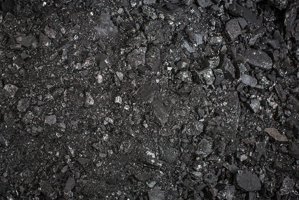 SNEZHNE, UKRAINE - JANUARY 25, 2015: Coal which has been dug from a small private mine in Snezhne, Ukraine. The mine produces approximately 15 tons of coal per day with a crew of four men. CREDIT: Brendan Hoffman for The New York Times