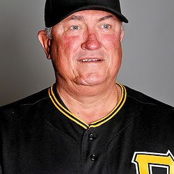 February 17, 2013; Bradenton, FL, USA;  Pittsburgh Pirates manager Clint Hurdle (13) poses for photo day at Pirate City.  Mandatory Credit: Derick E. Hingle-USA TODAY Sports