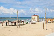 Sunny winter's day on Frishman Beach, Tel Aviv, Israel