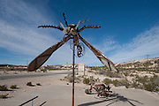 Metal Sculpture, Terlingua Ghost Town, Big Bend National Park, Texas, USA