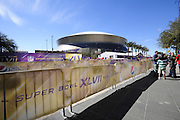 2/3/13 New Orleans LA.-NFL Security and fans get ready for Super Bowl XLV11 outside the Mercedes Benz Super Dome. The Francisco 49er's take on the Baltimore Ravens Sunday Feb. 3 2013Photo©Suzi Altman